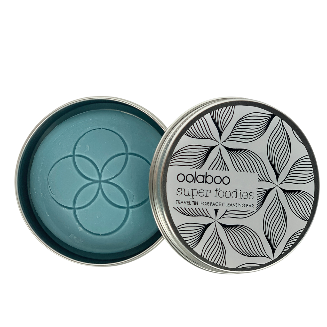 Oolaboo super foodies travel tin + face cleansing bar